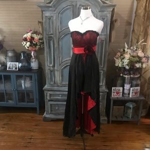Beautiful Black an Red formal dress
